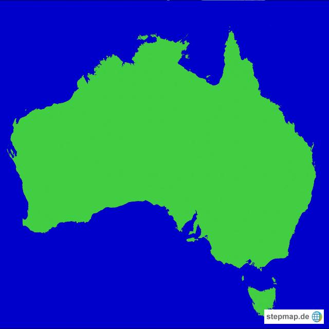 stepmap australien landkarte f r australien. Black Bedroom Furniture Sets. Home Design Ideas