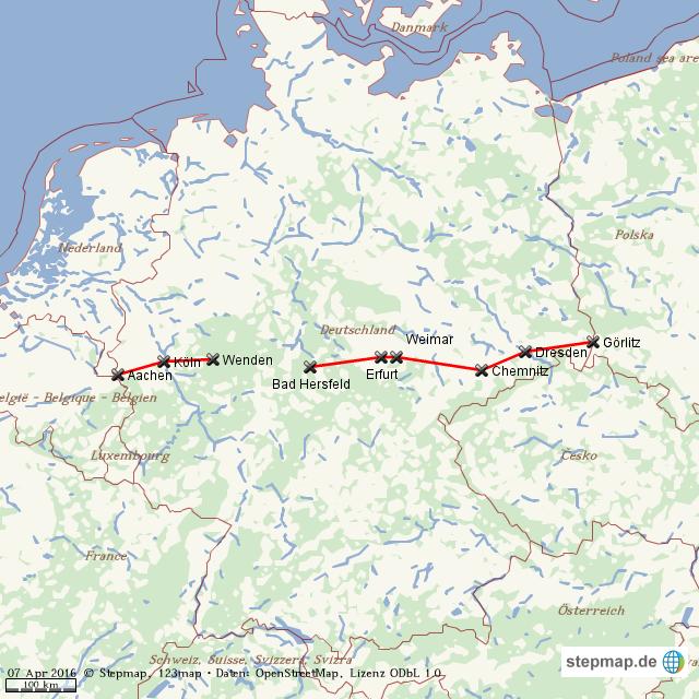 autobahn a4 karte StepMap   Autobahn A4   Landkarte für Welt