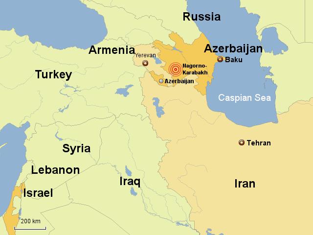 Bildergebnis für flightways of israel to iran inclusive aserbaidschan maps