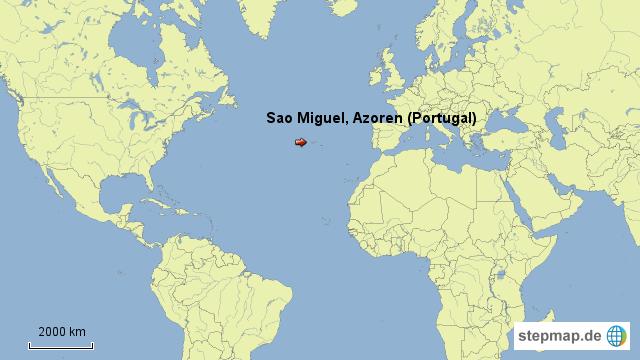 azoren weltkarte StepMap   Azoren   Landkarte für Portugal azoren weltkarte