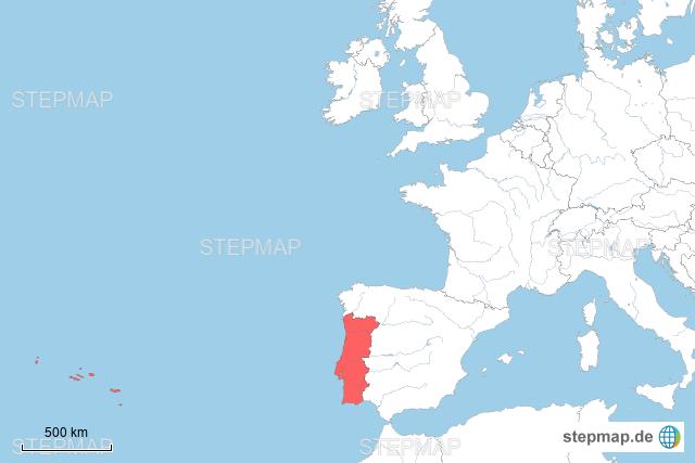 Azoren Karte.Stepmap Azoren Europa Landkarte Für Deutschland