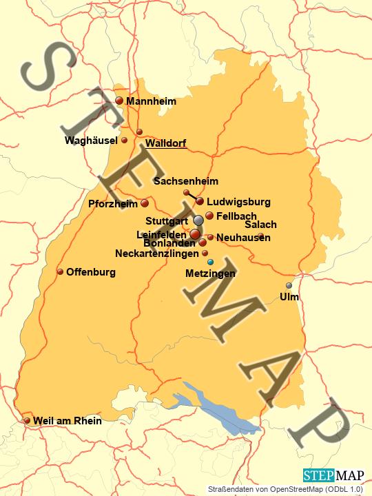 Landkarte Bw