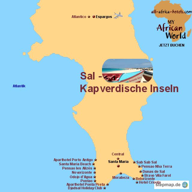 Wo Liegt Kapverden Karte.Stepmap Badehotels Sal Kapverdische Inseln Landkarte Für Afrika