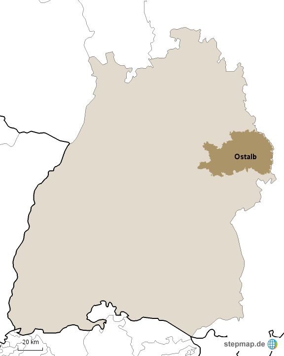 Ostalbkreis Karte.Stepmap Baden Württemberg Ostalbkreis Landkarte Für Deutschland
