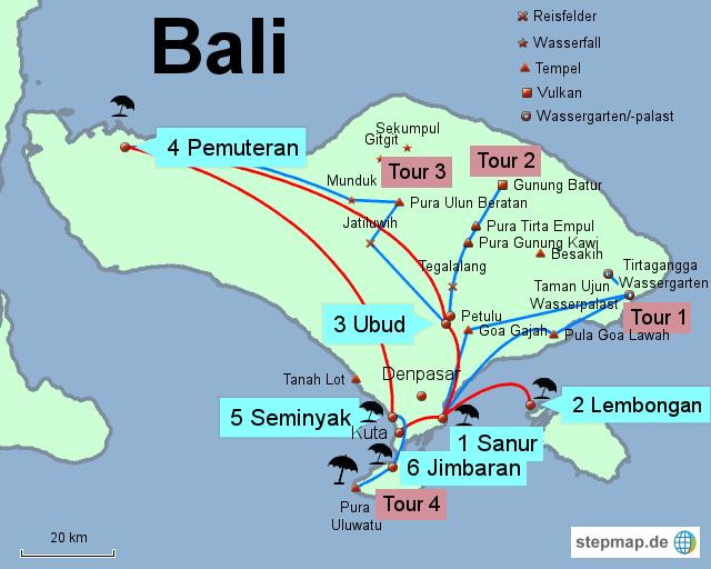 Bali Karte Asien.Stepmap Bali Landkarte Für Asien
