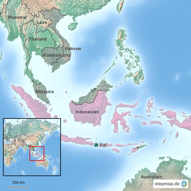Bali Karte Asien.Stepmap Bali Indonesien Landkarte Für Asien