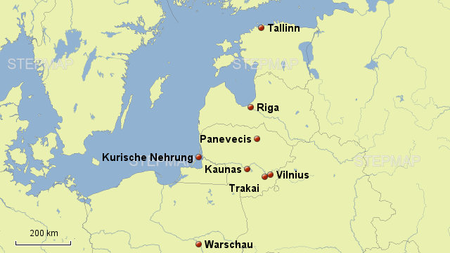 Kurische Nehrung Karte.Stepmap Baltikum Kurischen Nehrung Landkarte Fur Deutschland