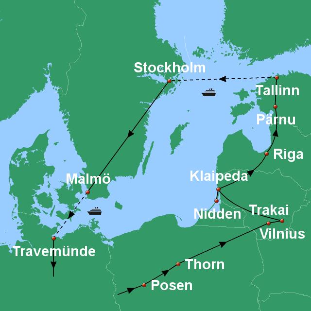 Kurische Nehrung Karte.Stepmap Baltische Hauptstadte Kurische Nehrung
