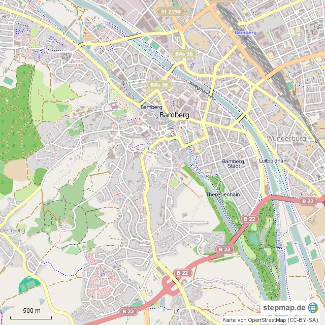Karte Bamberg Landkarte.Stepmap Bamberg Kartierungsgebiet Landkarte Fur Deutschland