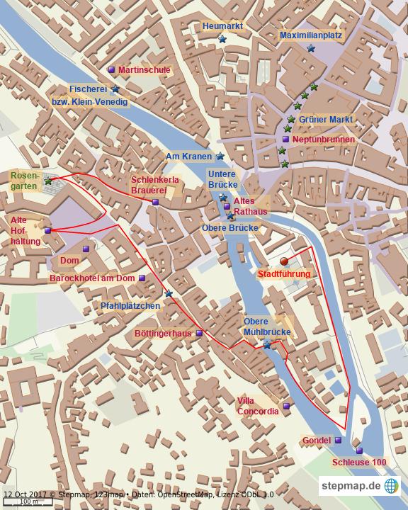 Karte Bamberg.Stepmap Bamberg Besuchte Sehenswurdigkeiten Landkarte