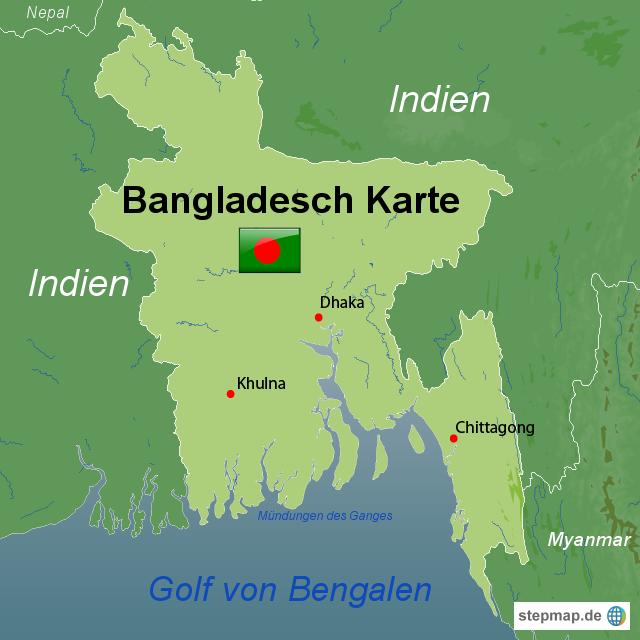 bangladesch karte StepMap   Bangladesch Karte   Landkarte für Bangladesch
