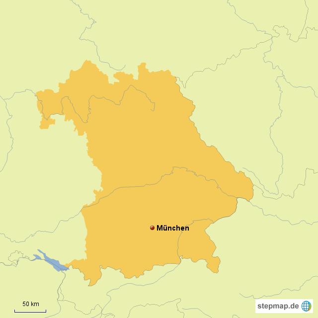 München Karte Bayern.Stepmap Bayern München Landkarte Für Deutschland