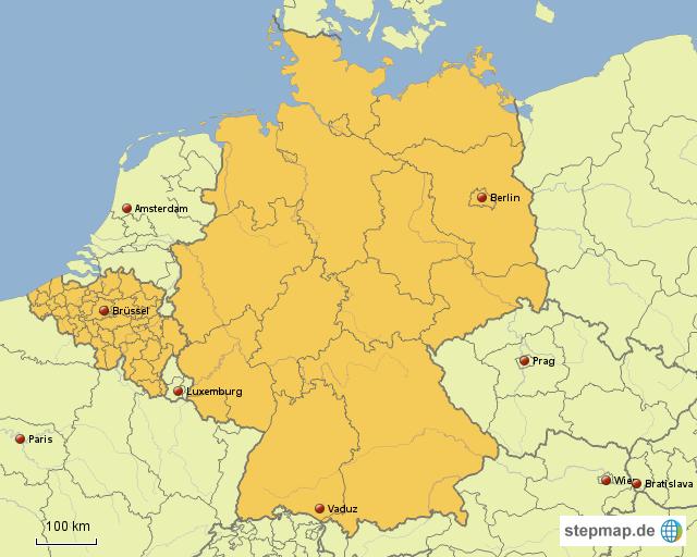 landkarte belgien deutschland StepMap   Belgien und Deutschland   Landkarte für Deutschland