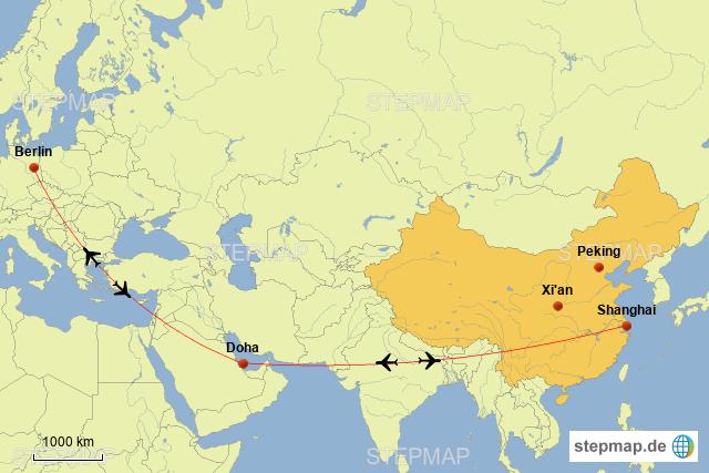 Doha Karte Welt.Stepmap Berlin Doha Shanghai Landkarte Fur Welt
