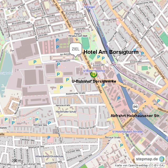 Stepmap Berlin Hotel Am Borsigturm Landkarte Fur Deutschland