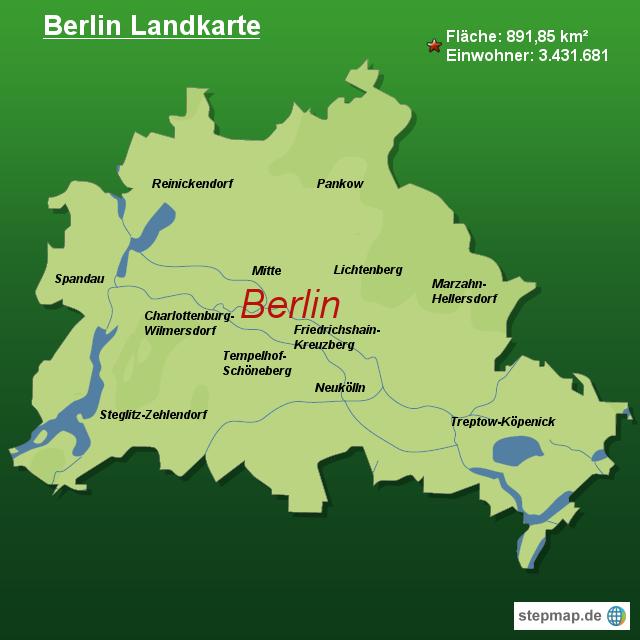 landkarte berlin StepMap   Berlin Landkarte   Landkarte für Deutschland landkarte berlin