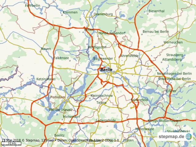 Berlin Potsdam Karte.Stepmap Berliner Ring Landkarte Für Welt