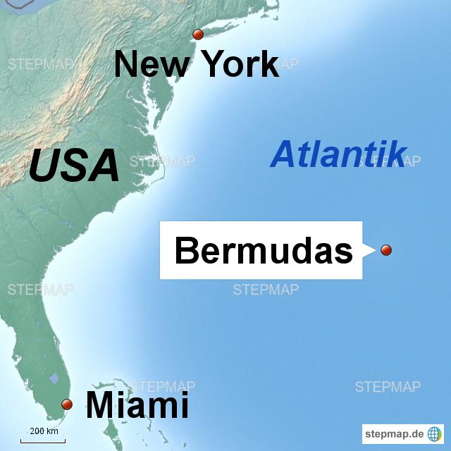 StepMap - Bermudas - Landkarte für Deutschland