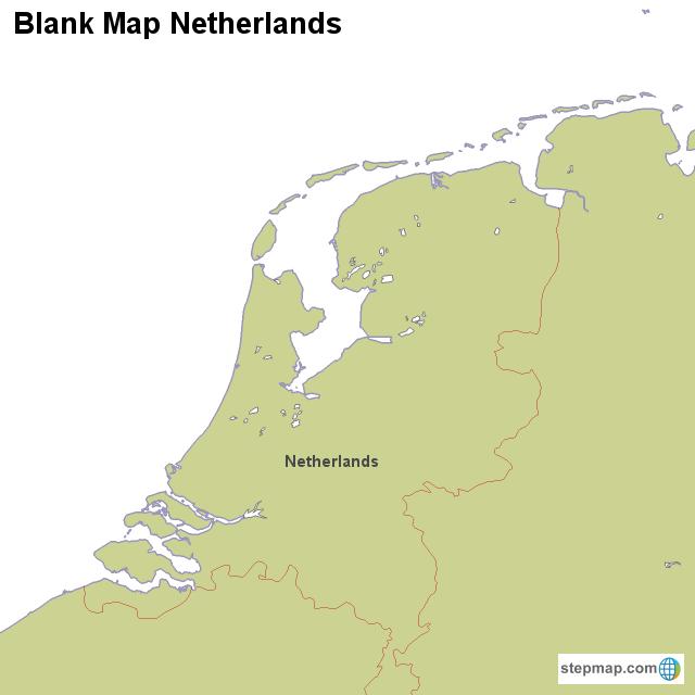 StepMap - Blank Map Netherlands - Landkarte für Niederlande