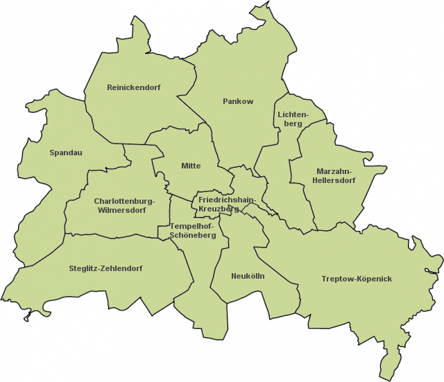 berliner bezirke karte StepMap   Blankokarte Berliner Bezirke   Landkarte für Deutschland