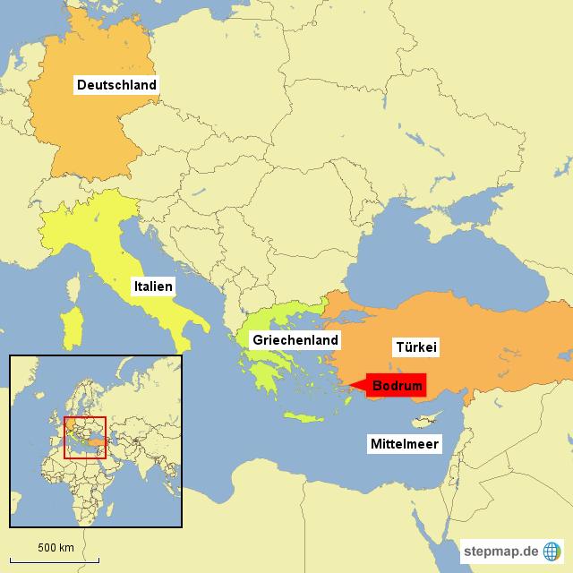 Bodrum Karte.Stepmap Bodrum Landkarte Für Deutschland