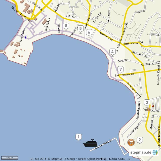 Bodrum Karte.Stepmap Bodrum City Landkarte Für Welt