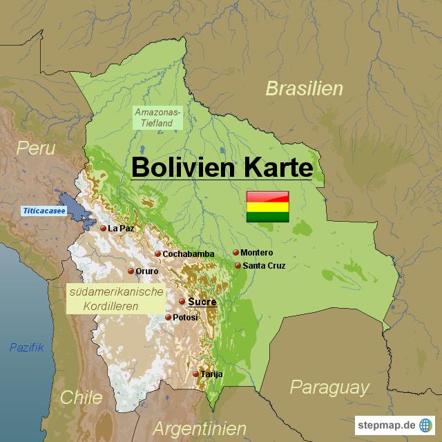 bolivien karte StepMap   Bolivien Karte   Landkarte für Bolivien