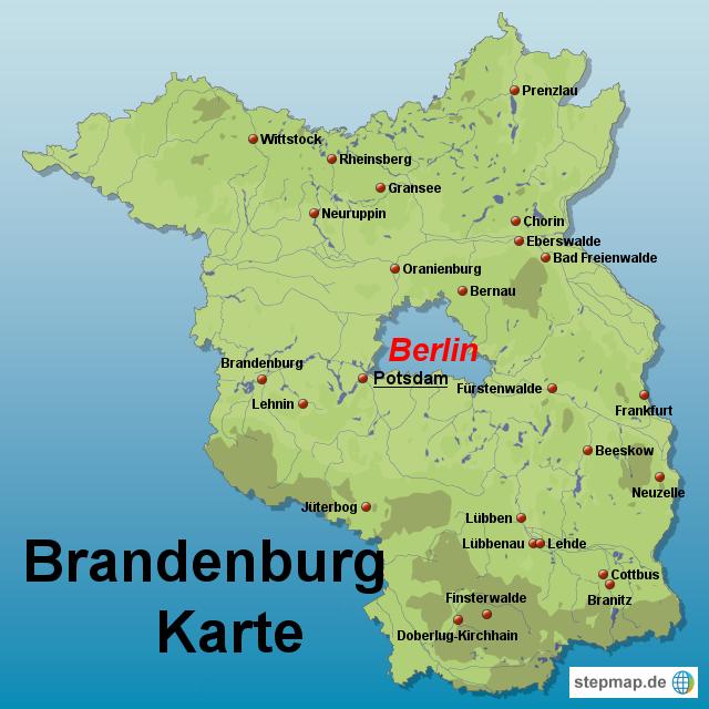 landkarte brandenburg StepMap   Brandenburg Karte   Landkarte für Deutschland landkarte brandenburg