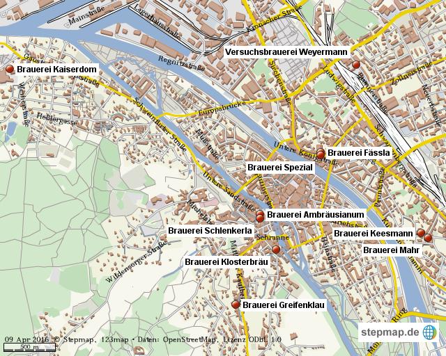 Karte Bamberg Landkarte.Stepmap Brauereien In Bamberg Landkarte Fur Welt
