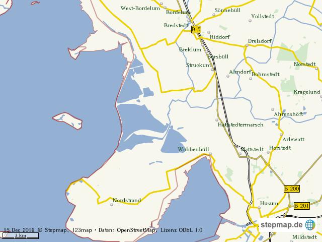 Husum Karte.Stepmap Bredstedt Husum Ubersicht Landkarte Fur Welt