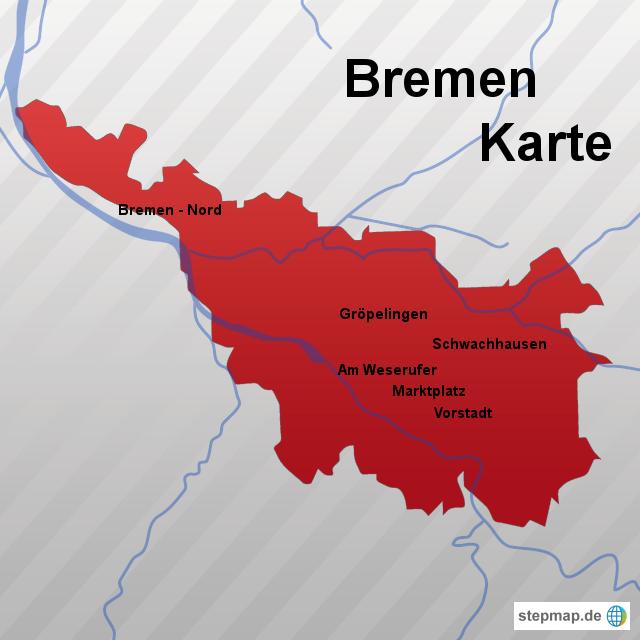Bundesland Bremen Karte.Stepmap Bremen Karte Landkarte Für Deutschland