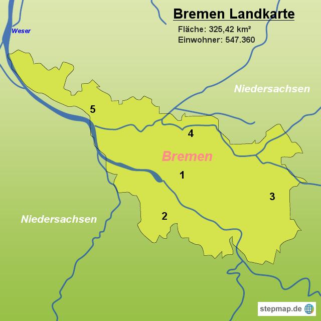 bremen landkarte StepMap   Bremen Landkarte   Landkarte für Deutschland bremen landkarte