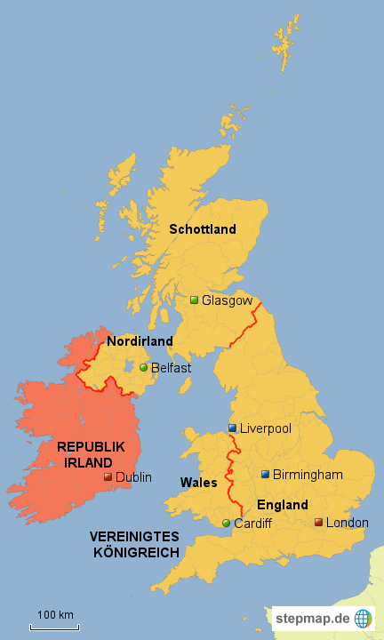 britische inseln karte StepMap   Britische Inseln   Landkarte für Großbritannien britische inseln karte