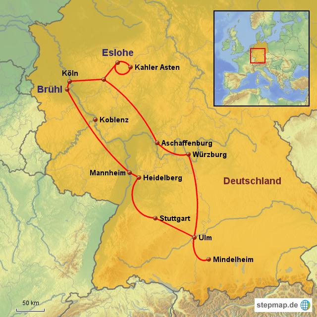 Sauerland Karte Deutschland.Stepmap Bruhl Sauerland 2007 Landkarte Fur Deutschland