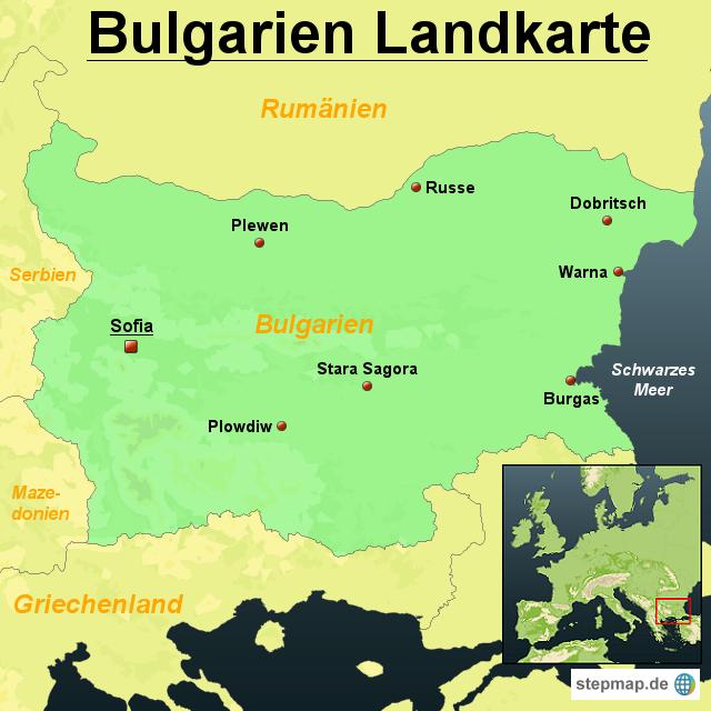 bulgarien landkarte StepMap   Bulgarien Landkarte   Landkarte für Bulgarien bulgarien landkarte