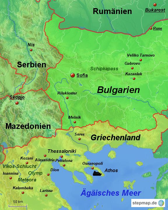 Karte Bulgarien.Stepmap Bulgarien Und Griechenland Landkarte Fur Europa