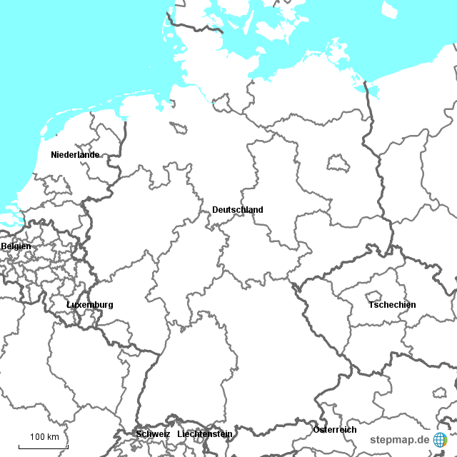Deutschland Karte Bundesländer Schwarz Weiß.Stepmap Bundesländer Landkarte Für Deutschland