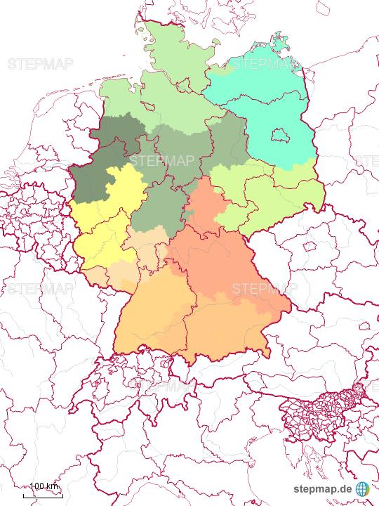 Bundesländer Karte Mit Plz.Stepmap Bundesländer Mit Plz Gebiet Landkarte Für Deutschland