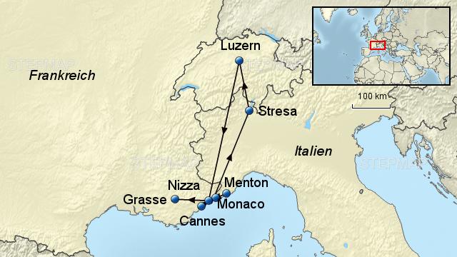 Karte Italien Frankreich.Stepmap C6001aa Schweiz Frankreich Italien Web Landkarte Für