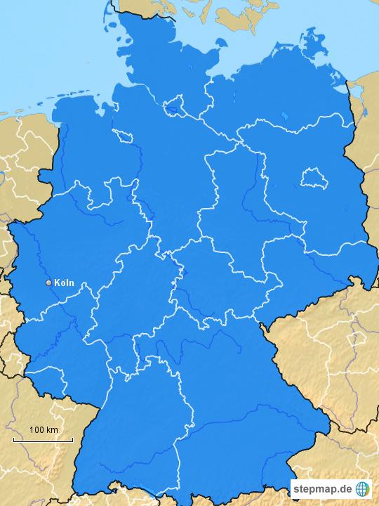 Stepmap Caesario Landkarte Für Deutschland