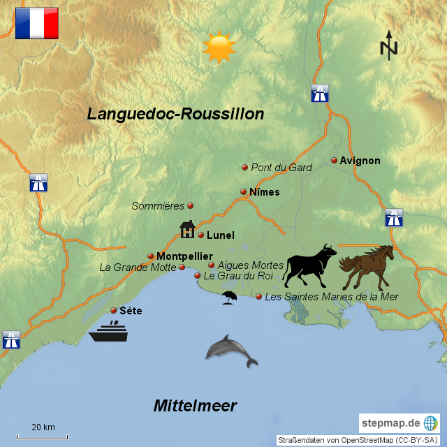Camargue Karte.Stepmap Camargue Landkarte Für Frankreich