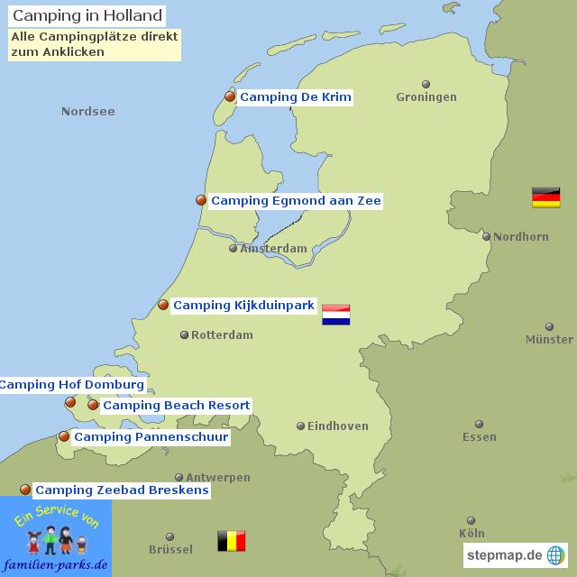 Karte Von Holland Landkarte Niederlande.Stepmap Camping Holland Camping Niederlande Landkarte Für