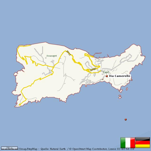 capri karte StepMap   Capri   Landkarte für Welt