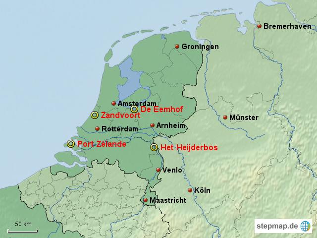 Karte Nordseeküste Holland.Center Park Holland Karte Karte