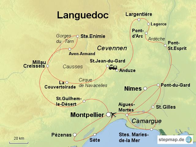 Cevennen Karte.Stepmap Cevennen Languedoc Landkarte Für Frankreich