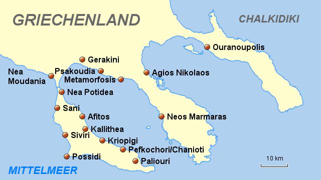 chalkidiki karte StepMap   Chalkidiki   Landkarte für Griechenland