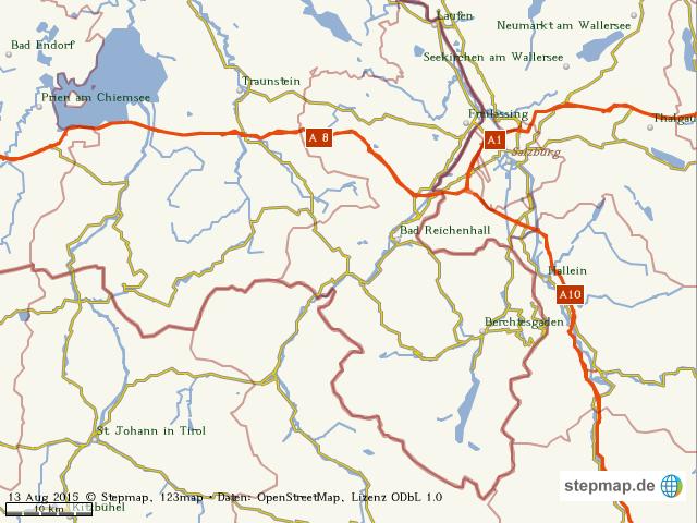 Chiemsee Karte Region.Stepmap Chiemsee Und Region Landkarte Fur Welt