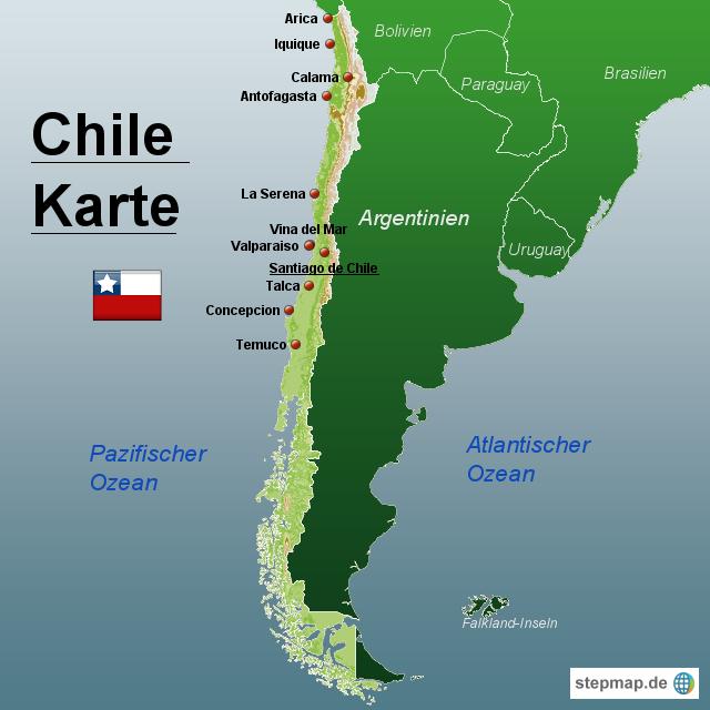 landkarte chile StepMap   Chile Karte   Landkarte für Chile landkarte chile