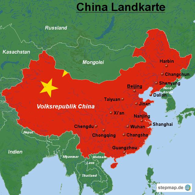 china karte StepMap   China Landkarte   Landkarte für China china karte