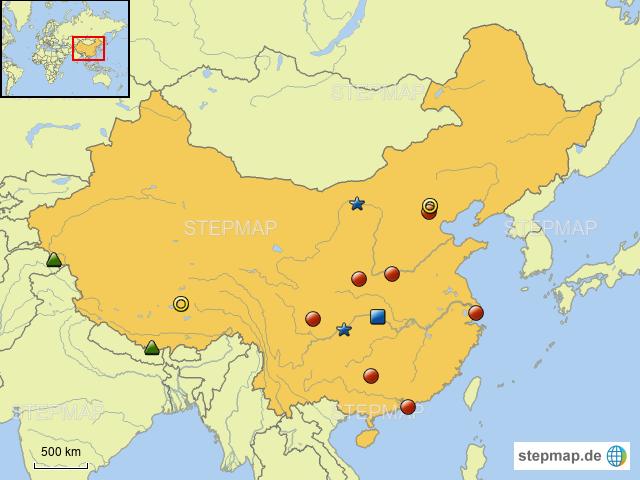 Chinesische Mauer Karte.Stepmap China Quiz Landkarte Für Asien